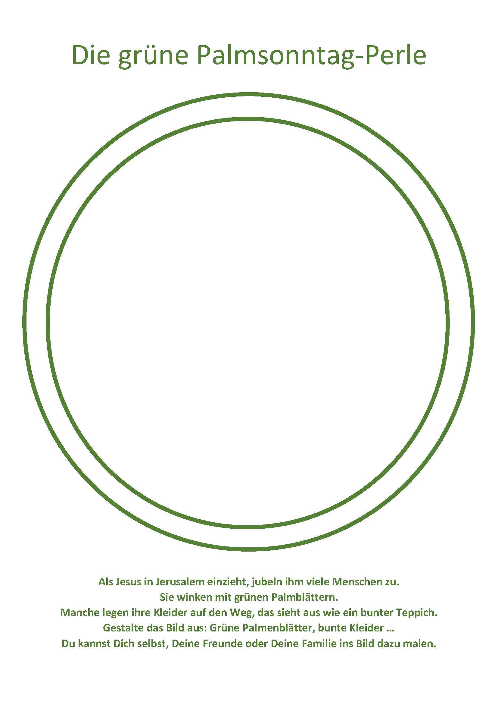 5 Grüne Palmsonntags-Perle - Malvorlage - Aktions-Seite Seelsorge in ...