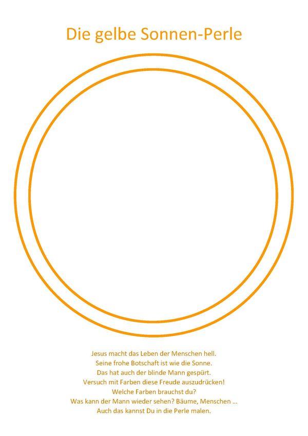 3 gelbe sonnenperle  malvorlage  aktionsseite